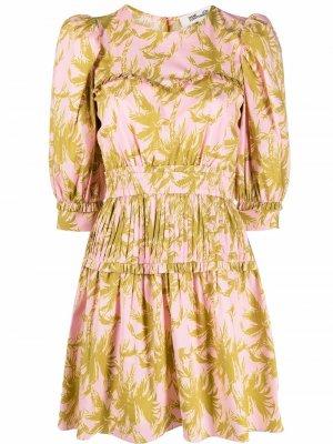 Поплиновое платье Phoebe DVF Diane von Furstenberg. Цвет: розовый