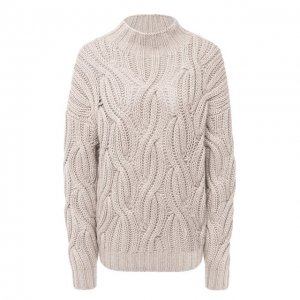 Кашемировый свитер Brunello Cucinelli. Цвет: бежевый