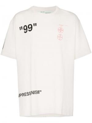 Футболка Impressionism свободного кроя Off-White. Цвет: белый