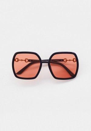 Очки солнцезащитные Gucci GG0890SA. Цвет: черный