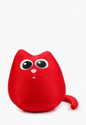 Подушка декоративная Gekoko Кот Искра. Цвет: красный