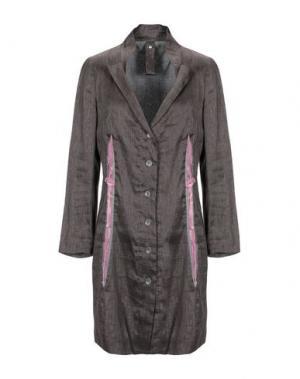 Легкое пальто BLUE DEEP. Цвет: темно-коричневый