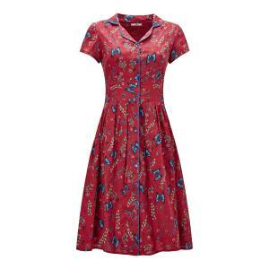 Платье-рубашка расклешенное с цветочным рисунком JOE BROWNS. Цвет: красный/ кирпичный