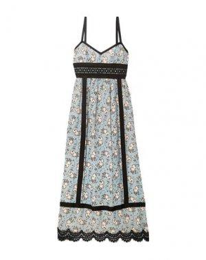 Длинное платье ANNA SUI. Цвет: лазурный