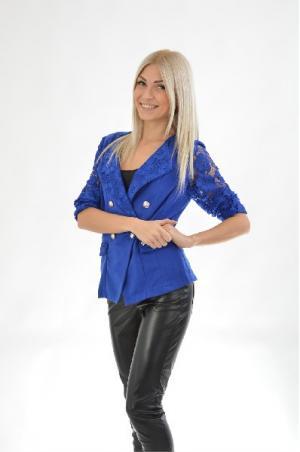 Блейзер Carla Giannini. Цвет: синий