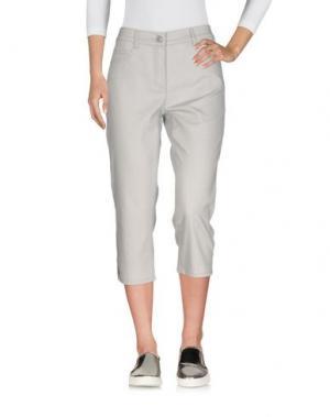 Джинсовые брюки-капри BARBARA LEBEK. Цвет: серый