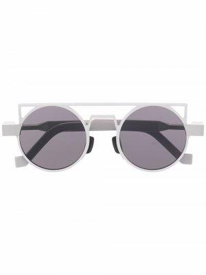 Солнцезащитные очки в круглой оправе VAVA Eyewear. Цвет: серый