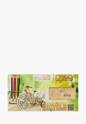 Конструктор Wood Trick Велосипед визитница. Цвет: бежевый