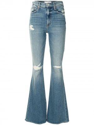 Расклешенные джинсы Super Cruiser с завышенной талией Mother. Цвет: синий