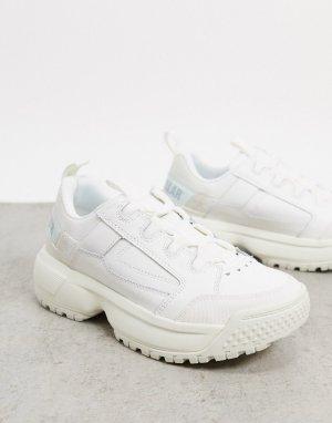 Белые кроссовки на платформе CAT Blaze-Белый Footwear