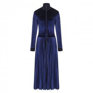 Платье-миди Valentino. Цвет: синий