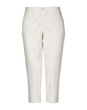 Джинсовые брюки-капри CRIPPEN. Цвет: белый