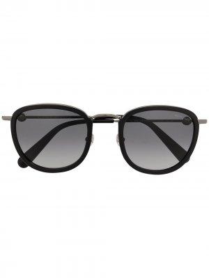 Солнцезащитные очки в массивной оправе Moncler Eyewear. Цвет: черный