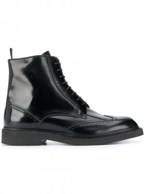 Ботинки на шнуровке Fratelli Rossetti. Цвет: черный