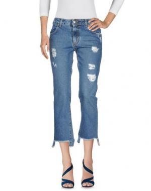 Джинсовые брюки-капри BERNA. Цвет: синий