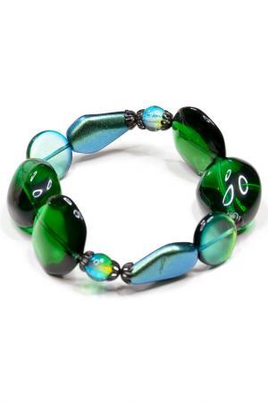 Комплект: браслет и серьги Bohemia Style. Цвет: зеленый