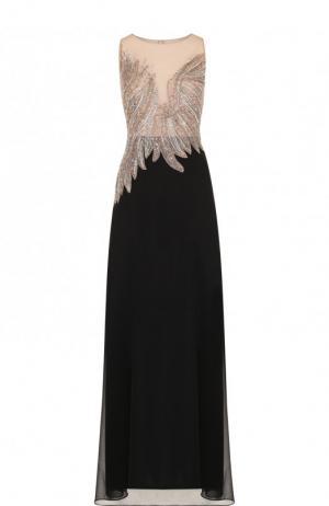 Приталенное платье-миди с контрастной отделкой Basix Black Label. Цвет: черный