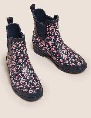 Резиновые сапоги M&S Collection. Цвет: розовый микс