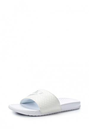 Сланцы Nike WOMENS BENASSI JUST DO IT. SANDAL. Цвет: белый
