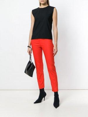 Облегающие брюки Les Copains. Цвет: желтый