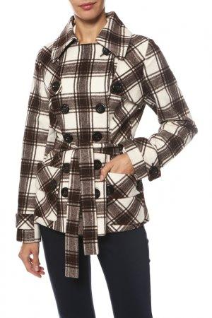 Пальто Frizman. Цвет: коричневый, белый