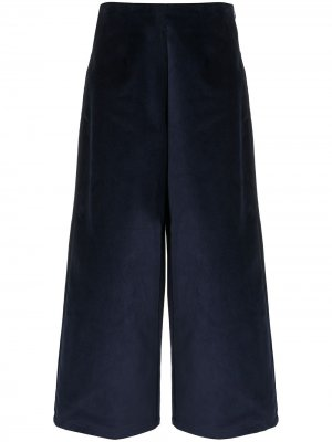 Бархатные брюки широкого кроя Folk. Цвет: синий