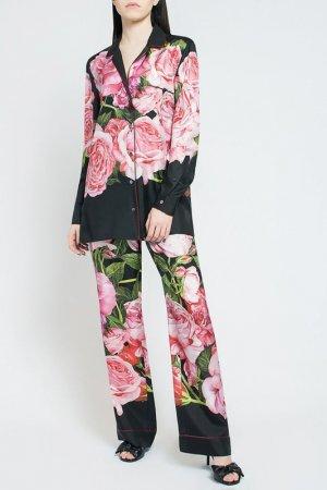 Блузка DOLCE & GABBANA. Цвет: черный/розовый