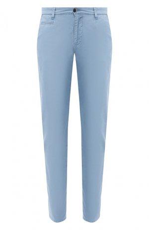 Хлопковые брюки Baldessarini. Цвет: синий