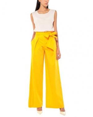 Повседневные брюки ANNARITA N TWENTY 4H. Цвет: охра