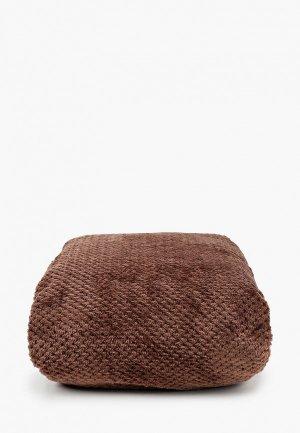 Плед Эго Велсофт 220х200 см. Цвет: коричневый
