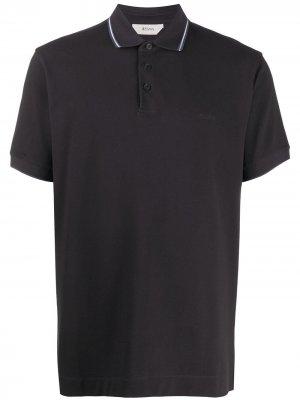Рубашка поло с контрастной отделкой Z Zegna. Цвет: черный