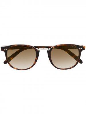Солнцезащитные очки 1007 в прямоугольной оправе Cutler & Gross. Цвет: коричневый
