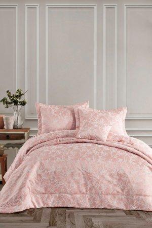 Двуспальный комплект белья Cotton box. Цвет: розовый