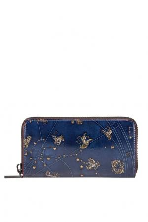 Кожаный кошелек M Panettone Christian Louboutin. Цвет: синий