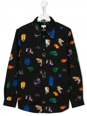 Рубашка с принтом Paul Smith Junior. Цвет: черный