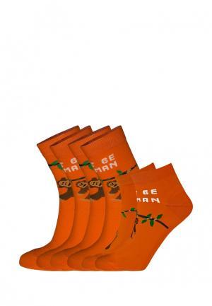 Комплект bb socks. Цвет: оранжевый