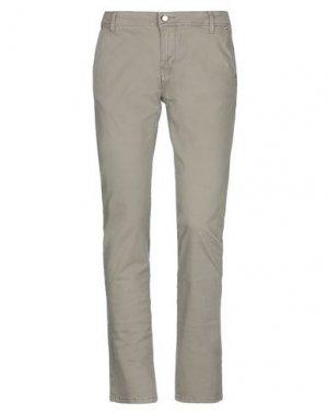 Джинсовые брюки GAUDÌ. Цвет: хаки