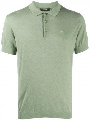 Рубашка поло в рубчик J Lindeberg. Цвет: зеленый