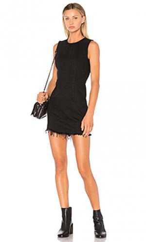 Платье с застёжкой на молнию DENIM x ALEXANDER WANG. Цвет: черный