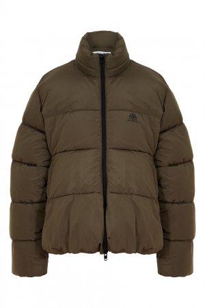 Куртка цвета хаки Balenciaga. Цвет: хаки