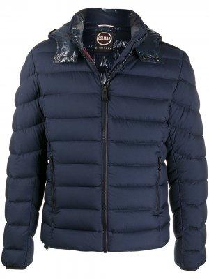 Стеганая куртка с капюшоном Colmar. Цвет: синий