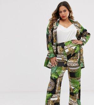 Расклешенные брюки в стиле барокко -Мульти Koko