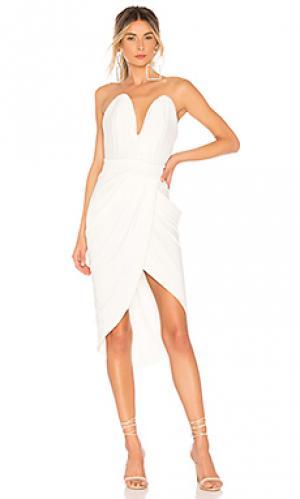 Платье миди mad world Zhivago. Цвет: белый