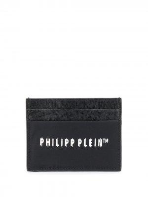 Картхолдер с логотипом Philipp Plein. Цвет: черный
