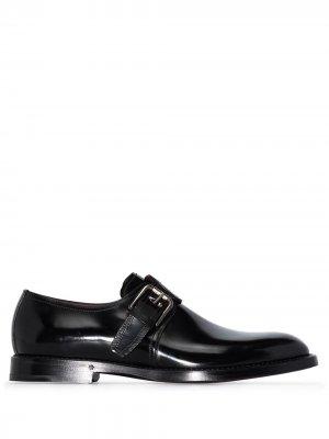 Туфли монки с пряжками Dolce & Gabbana. Цвет: черный