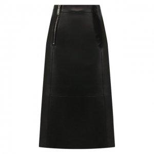 Кожаная юбка Dsquared2. Цвет: чёрный