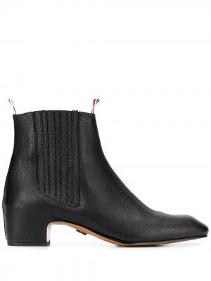 Ботинки челси на блочном каблуке Thom Browne. Цвет: черный