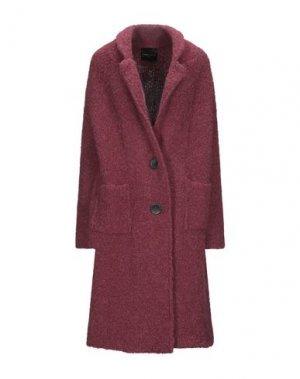 Пальто ROBERTO COLLINA. Цвет: пурпурный