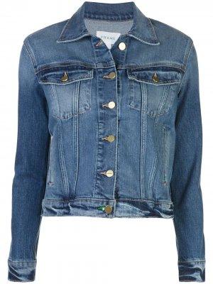Джинсовая куртка кроя слим FRAME. Цвет: синий