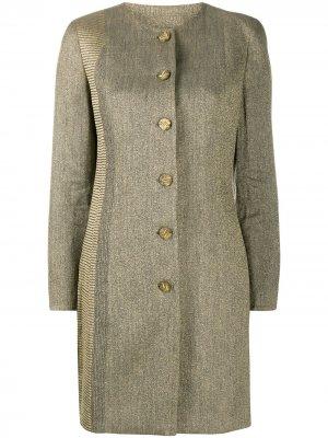 Пальто 2000-х годов без воротника Gianfranco Ferré Pre-Owned. Цвет: нейтральные цвета